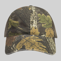 OTTO Camouflage Garment Washed Cotton Blend Twill w/ Heavy Washed PU Coated Back Six Panel Low Profi