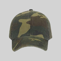 OTTO Camouflage Garment Washed Cotton Twill Six Panel Low Profile Baseball Cap