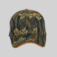 OTTO Camouflage Cotton Blend Twill Sandwich Visor Six Panel Low Profile Mesh Back Trucker Hat
