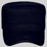 OTTO Garment Washed Superior Cotton Twill Binding Trim Visor Military Cap