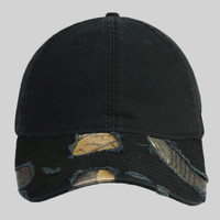 OTTO Camouflage Garment Washed Distressed Superior Cotton Twill Six Panel Low Profile Baseball Cap