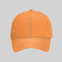 OTTO Neon Polyester Twill Six Panel Low Profile Baseball Cap