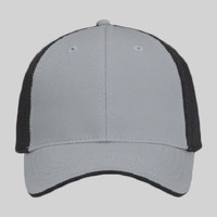 OTTO Superior Cotton Twill w/ Polyester Pro Mesh Back Flipped Edge Visor Six Panel Low Profile Baseb