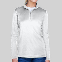 Ladies' Cool & Dry Sport Performance Interlock Quarter-Zip Pullover