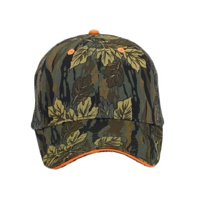 OTTO Camouflage Cotton Blend Twill Sandwich Visor Six Panel Low Profile Mesh Back Trucker Hat Thumbnail
