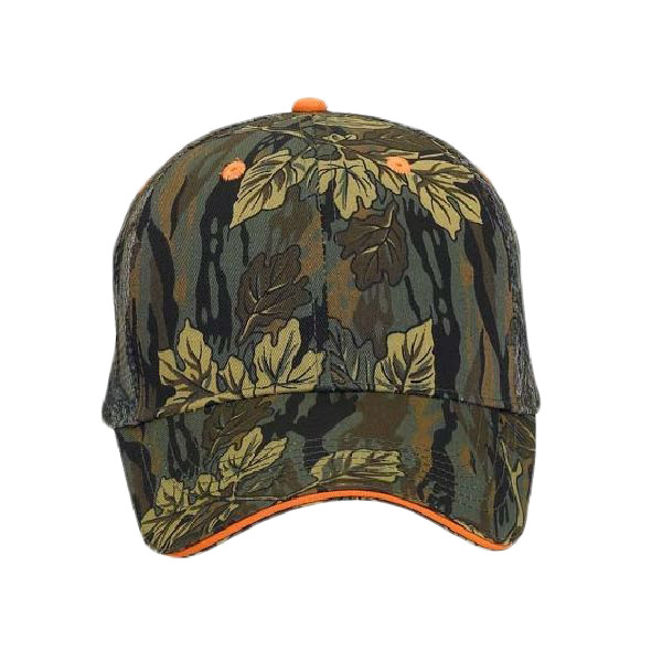 92c5749b OTTO Cap OTTO Camouflage Cotton Blend Twill Sandwich Visor Six Panel Low  Profile Mesh Back Trucker Hat 106-752