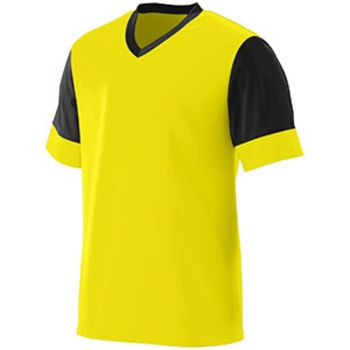 Youth Wicking Polyester V-Neck Jersey with Contrast Sleeves Thumbnail