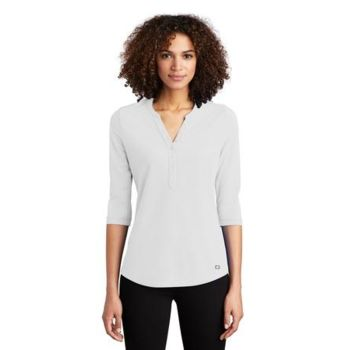 ® Ladies Jewel Henley Thumbnail