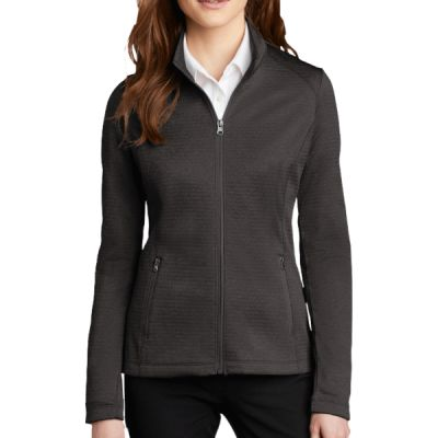 ® Ladies Diamond Heather Fleece Full Zip Jacket Thumbnail