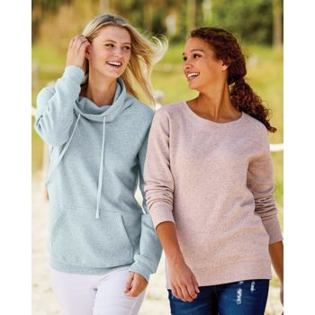 Women's Space-Dyed Cowl Neck Sweatshirt Thumbnail