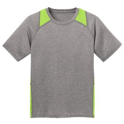 Youth Heather Colorblock Performance Tee Thumbnail