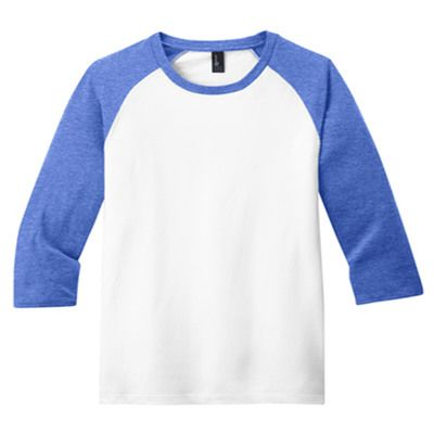 Youth Heather Cotton Raglan Tee  Thumbnail