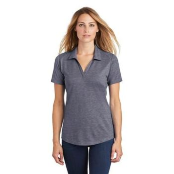 ® Ladies PosiCharge ® Tri Blend Wicking Polo Thumbnail