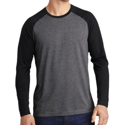® PosiCharge ® Long Sleeve Tri Blend Wicking Raglan Tee Thumbnail