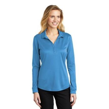 ® Ladies Silk Touch ™ Performance Long Sleeve Polo Thumbnail